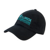 Black Twill Unstructured Low Profile Hat-Florida SW Buccaneers