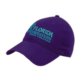 Purple Twill Unstructured Low Profile Hat-Primary Logo