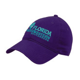 Purple Twill Unstructured Low Profile Hat-Florida SW Buccaneers