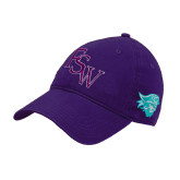 Purple Twill Unstructured Low Profile Hat-FSW
