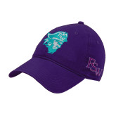 Purple Twill Unstructured Low Profile Hat-Pirate