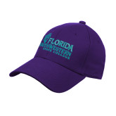 Purple Heavyweight Twill Pro Style Hat-Primary Logo