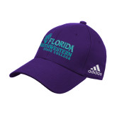Adidas Purple Structured Adjustable Hat-Primary Logo