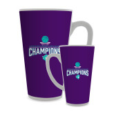 Full Color Latte Mug 17oz-Suncoast Womens Basketball Champions