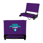 Stadium Chair Purple-Florida SouthWestern Alumni Arched