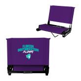Stadium Chair Purple-Florida SouthWestern Alumni Arched