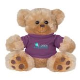 Plush Big Paw 8 1/2 inch Brown Bear w/Purple Shirt-Primary Logo