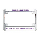Metal Motorcycle License Plate Frame in Chrome-Buccaneers