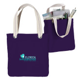 Allie Purple Canvas Tote-Primary Logo