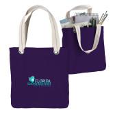Allie Purple Canvas Tote-Primary Logo
