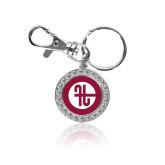 Crystal Studded Round Key Chain-Identity Mark
