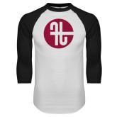White/Black Raglan Baseball T Shirt-Identity Mark
