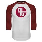 White/Cardinal Raglan Baseball T Shirt-Identity Mark