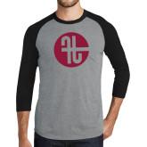 Grey/Black Tri Blend Baseball Raglan-Identity Mark