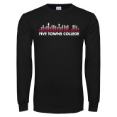 Black Long Sleeve T Shirt-Five Towns College Bars