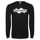 Black Long Sleeve T Shirt-Five Towns College Waves
