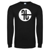 Black Long Sleeve T Shirt-Identity Mark Distressed