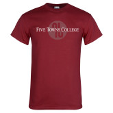 Cardinal T Shirt-Five Towns College Tone Distress