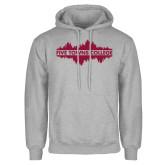 Grey Fleece Hoodie-Five Towns College Waves