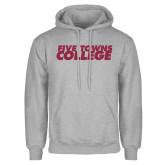 Grey Fleece Hoodie-Five Towns College Mesh