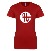 Next Level Ladies SoftStyle Junior Fitted Cardinal Tee-Identity Mark