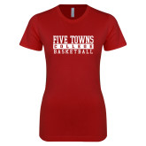Next Level Ladies SoftStyle Junior Fitted Cardinal Tee-Enter Logo Name