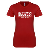 Next Level Ladies SoftStyle Junior Fitted Cardinal Tee-Alumni