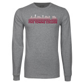 Grey Long Sleeve T Shirt-Five Towns College Bars