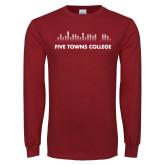 Cardinal Long Sleeve T Shirt-Five Towns College Bars