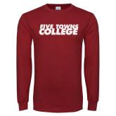 Cardinal Long Sleeve T Shirt-Five Towns College Mesh