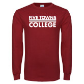 Cardinal Long Sleeve T Shirt-Five Towns College Stacked