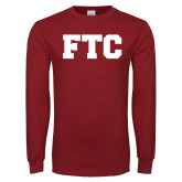 Cardinal Long Sleeve T Shirt-FTC