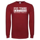 Cardinal Long Sleeve T Shirt-Enter Logo Name