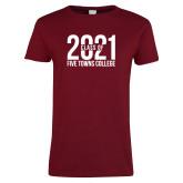 Ladies Cardinal T Shirt-Class of 2021