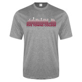 Performance Grey Heather Contender Tee-Five Towns College Bars
