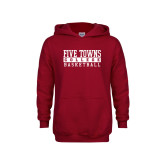 Youth Cardinal Fleece Hoodie-Enter Logo Name