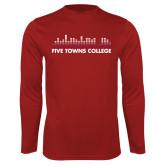 Performance Cardinal Longsleeve Shirt-Five Towns College Bars