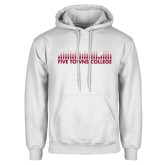 White Fleece Hoodie-Five Towns College Bars
