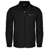 Full Zip Black Wind Jacket-Primary Mark