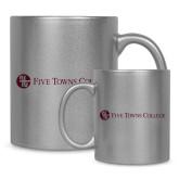 Full Color Silver Metallic Mug 11oz-Primary Mark