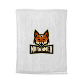 White Rally Towel-Primary Mark