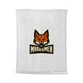 White Rally Towel-Primary Mark