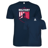 Next Level SoftStyle Navy T Shirt-Military Appreciation