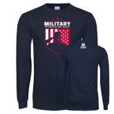 Navy Long Sleeve T Shirt-Military Appreciation Design