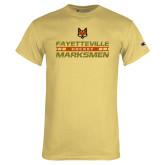 Champion Vegas Gold T Shirt-Stacked Cut Through Design
