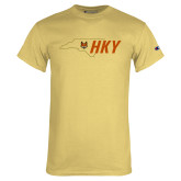 Champion Vegas Gold T Shirt-State Outline HKY