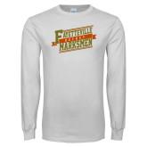 White Long Sleeve T Shirt-Hockey Ribbon