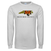 White Long Sleeve T Shirt-Mascot in State