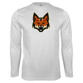 Syntrel Performance White Longsleeve Shirt-Mascot Head