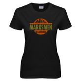 Ladies Black T Shirt-Cityscape